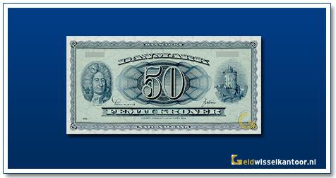 Deense Kronen-50-kroner-Ole-Romer-1950-1970-Denemarken