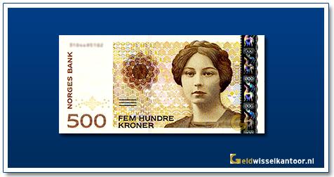 Geldwisselkantoor-500-Kroner-Sigrid-Undste-Noorwegen-1999