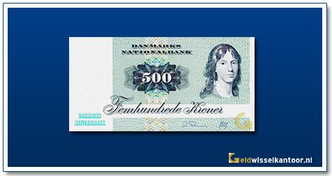 Deense Kronen-500-kroner-1972-88-Unknown-Lady-Denemarken
