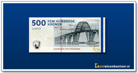 Deense Kronen-500-kroner-2009-Alexandrine-Brigde-Denemarken