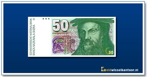 geldwisselkanoor-50-Franken-Konrad-Gessner-Zwitserland-1978-88