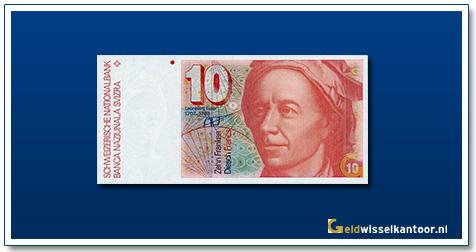 geldwisselkantoor-10-Franken-Leomhard-Euler-Zwitserland-1979-1992