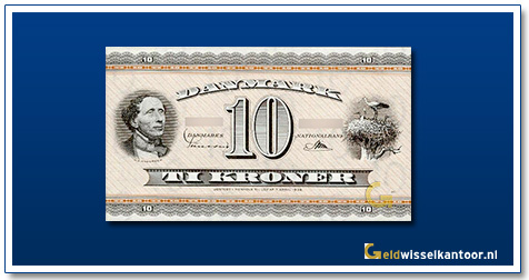Deense Kronen-10-kroner-Hans-Christian-Andersen-1950-1974-denemarken