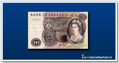 Engelse Ponden-10-pounds-1964-1975-queen-elizabeth-II-groot-brittanie