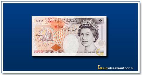 Engelse Ponden-10-pounds-1992-1993-queen-elizabeth-II-groot-brittanie