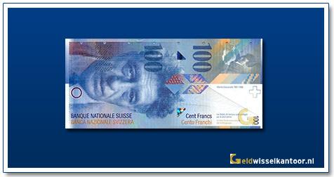 geldwisselkantoor-100-Franken-Alberto-Giacometti-Zwitserland-1996-heden