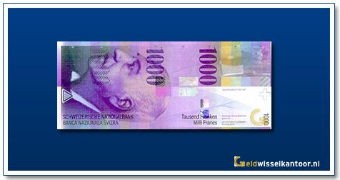 geldwisselkantoor-1000-Franken-Jacob-Burckhardt-Zwitserland-1996-2006