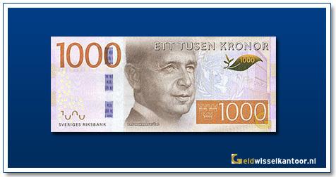 geldwisselkantoor-1000-Kronor-Dag-Hammarskjold-Zweden-2016