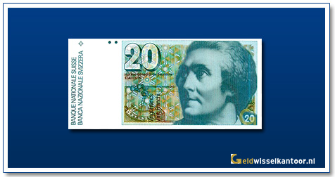 geldwisselkantoor-20-Franken-Horace-Benedit-de-Saussure-Zwitserland-1978-1992