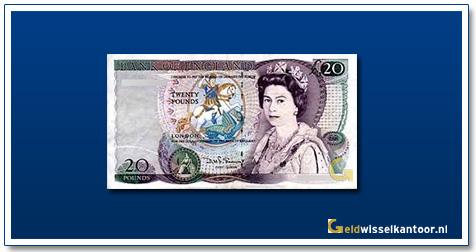 Engelse Ponden-20-pounds-1970-1991-queen-elizabeth-II-groot-brittanie