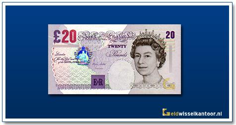 Engelse Ponden-20-pounds-1999-2004-queen-elizabeth-II-groot-brittanie