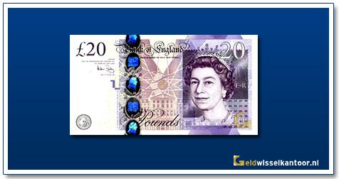 Engelse Ponden-20-pounds-2006-2007-queen-elizabeth-II-groot-brittanie