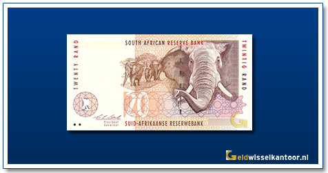 geldwisselkantoor-20-rand-Olifant-1993-zuid-afrika
