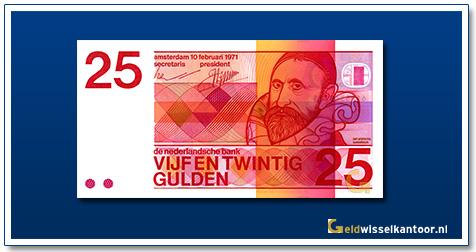 Nederland 25 Gulden 1971 Sweelinck