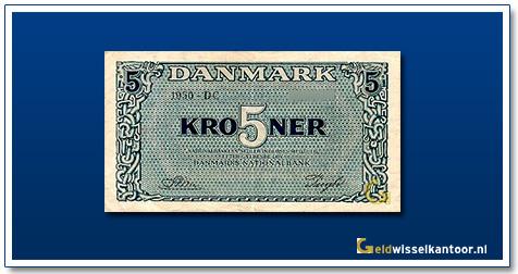 Deense Kronen-5-kroner-1945-1953-denemarken