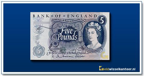 Engelse Ponden-5-pounds-1963-71-groot-brittanie