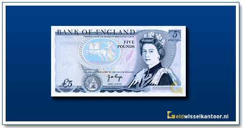 Engelse Ponden-5-pounds-queen-elizabeth-II-1971-1991-groot-brittanie