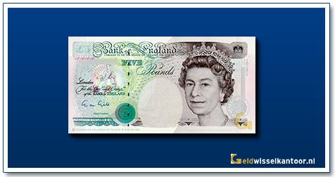 Engelse Ponden-5-pounds-queen-elizabeth-II-1990-2002-groot-brittanie
