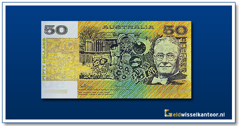 Australische Dollar-50-Dollar-Lord-Haward-Walker-Florey-1973-1994-Geldwisselkantoor