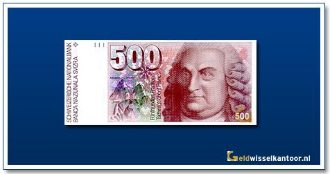 geldwisselkantoor-500-Franken-Albrecht-von-haller-Zwitserland-1976-92