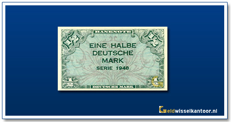 Geldwisselkantoor 1 2 mark 1948 Duitsland