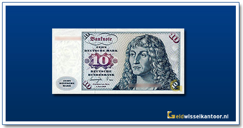Geldwisselkantoor-10-Mark-Albrecht-Durer-Duitsland-1970-80