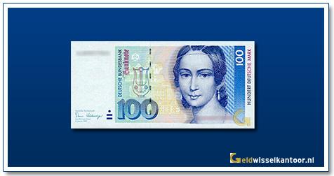 Geldwisselkantoor-100-mark-Clare-Schumann-Duitsland-1989-93