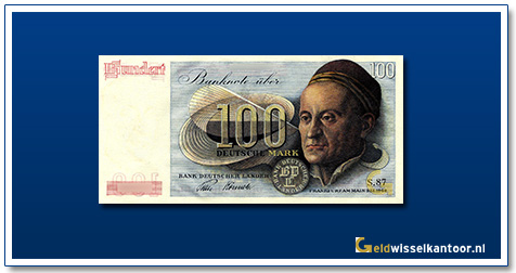 Geldwisselkantoor-100-mark-Muffel-by-Durer-Duitsland-1948
