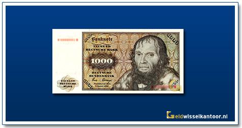 Geldwisselkantoor-1000-Mark-Johannes-Schoner-Duitsland-1977-80