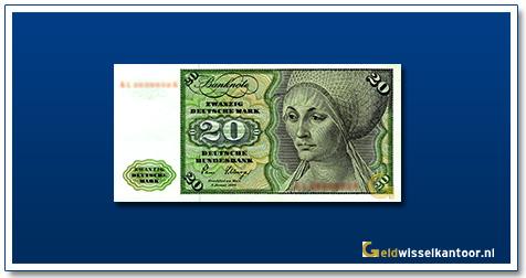 Geldwisselkantoor-20-mark-Elsbeth-Tucher-Duitsland-1970-80