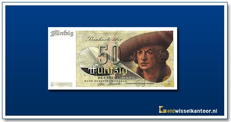 Geldwisselkantoor-50-mark-Imhof-by-Durer-Duitsland-1948