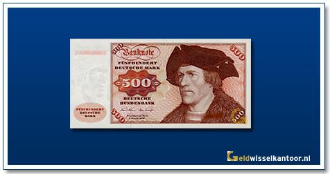 Geldwisselkantoor-500-Mark-Hans-Maler-Duitsland-1970-80