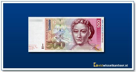 Geldwisselkantoor-500-Mark-Maria-Sibylla-Merian-Duitsland-1991-93