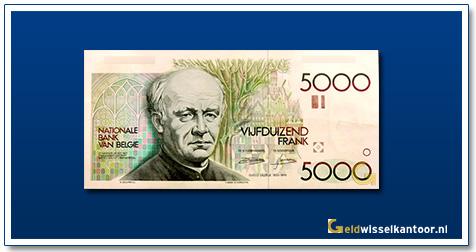 Geldwisselkantoor-5000-Francs-Guido-Gazelle-Belgie-1982