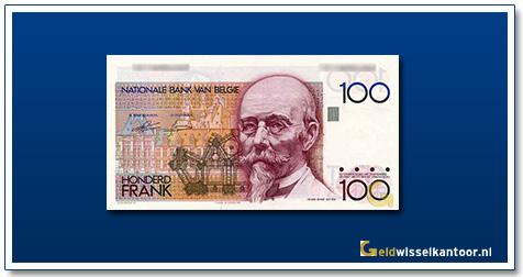 Geldwisselklantoor-100-Francs-Hendrik-Beyaert-Belgie-1978