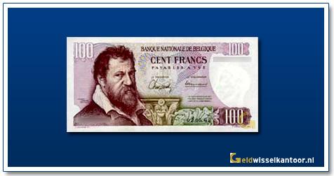 Geldwisselklantoor-100-Francs-James-Ensor-Belgie-1995-2001