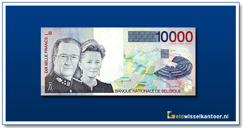 Geldwisselklantoor-10000-Francs-Koning-Albert-II-en-Koningin-Paola-Belgie-1997