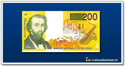 Geldwisselklantoor-200-Frank-AdolpheSax-Belgie-1995