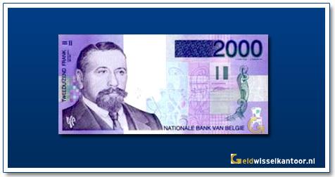 Geldwisselklantoor-2000-Francs-Baron-Victor-Horta-Belgie-1994-2001