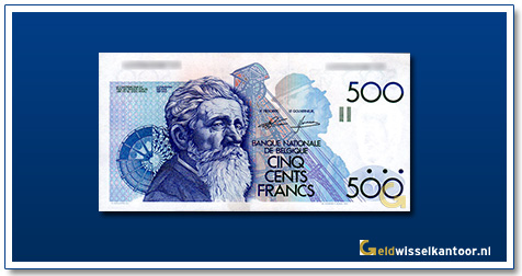 Geldwisselklantoor-500-Francs-Constantin-Meunier-Belgie-1980-81