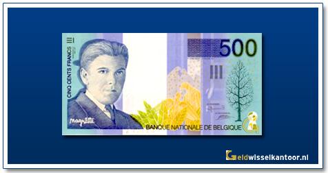 Geldwisselklantoor-500-Francs-Rene-Magritte-Belgie-1998