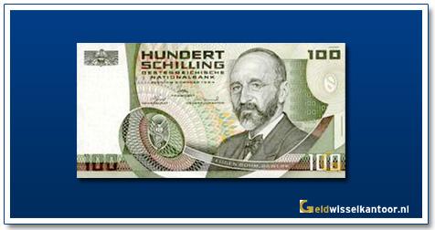 geldwisselkantoor-100-Schilling-Eugen-Bohm-van-Bawerk-Oostenrijk-1984-85