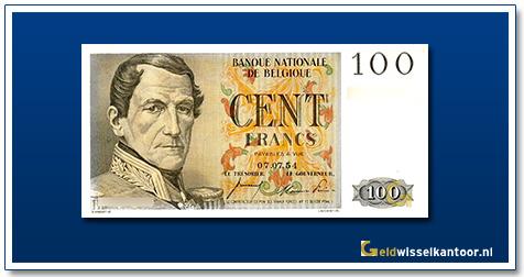 geldwisselkantoor-100-franks-leopold-I-1952-1959-belgie