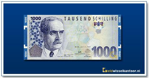 geldwisselkantoor-1000-Schilling-Karl-Landsteiner-Oostenrijk-1997