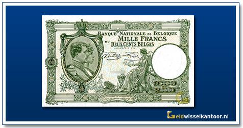 geldwisselkantoor-1000-franks-Albert-Elisabeth-1943-belgie