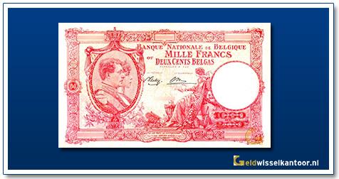 geldwisselkantoor-1000-franks-Albert-Elisabeth-1944-belgie