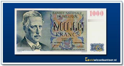 geldwisselkantoor-1000-franks-Albert-I-1950-1958-belgie