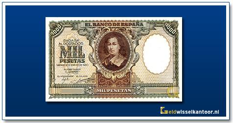 geldwisselkantoor-1000-pesetas-Murillo-1940-spanje