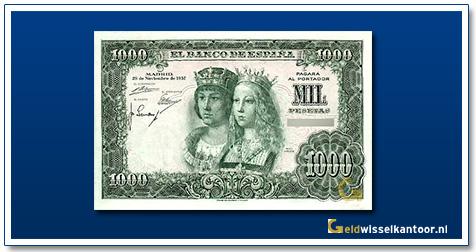 geldwisselkantoor-1000-pesetas-Queen-Isabella-and-King-Ferdinand-1957-spanje
