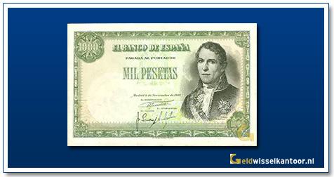 geldwisselkantoor-1000-pesetas-Ramon-santillan-1949-spanje